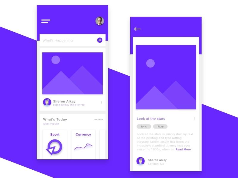 Social Media #2 feed illustration minimal vector ux ui moments graphic design graphic design clean app design