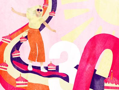 Birthday card for a friend birthday card editorial illustration
