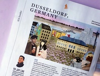 SilverKris Magazine duesseldorf editorial illustration editorial illustration