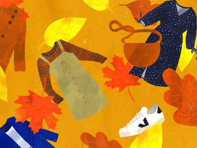 Autumn fashion design fashion nature commercial art illustration