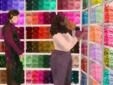 simple things mag november colourful wool editorial illustration editorial illustration