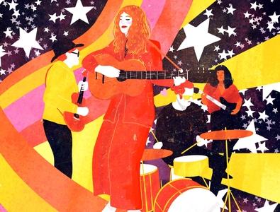 suprafon design music portrait poster editorial illustration editorial illustration