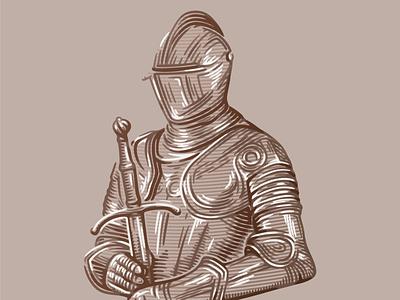 Knight branding logo graphic design illustration