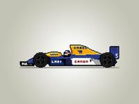 Pixel Willams F1 car