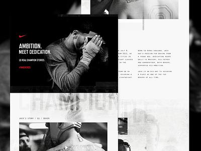 #NikeHeros nike mockup sport heros champion design boxer boxing textured website