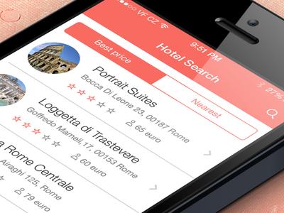iOS7 App - Hotel Search