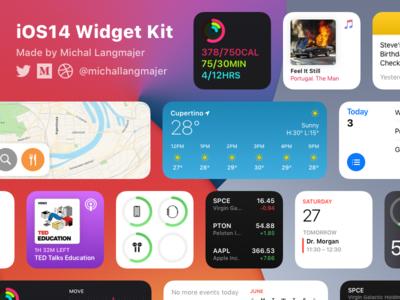 iOS14 Widget Kit quick start template kit ui flat minimal ios14 ios widgets
