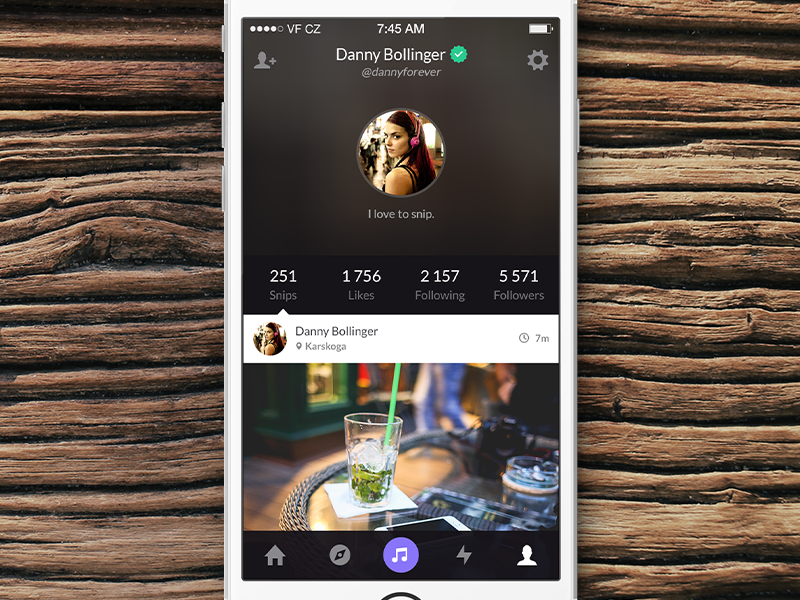 Snippit Redesign snippit music app ios profile feed social ui