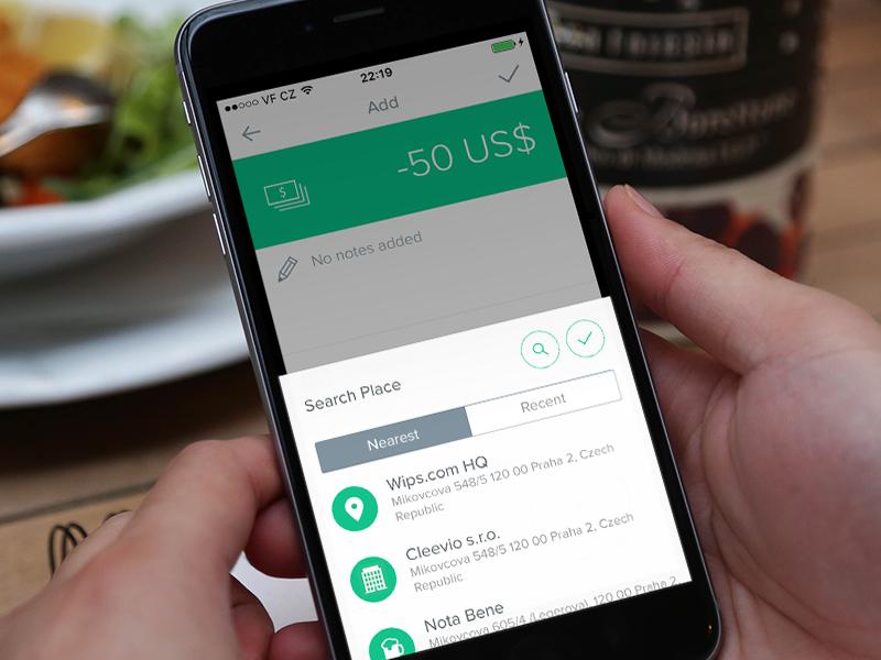 Spendee Pickers & Dialogs select search minimal flat popup dialog picker finance app spendee