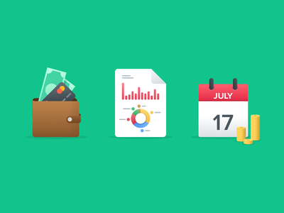 Spendee icons flat overview statistics graph budget calendar money wallet app icon spendee