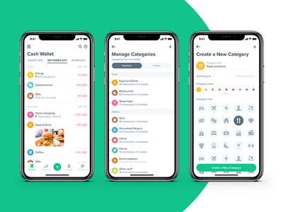 Spendee gonna be iPhone X ready minimal categories simple income spending tracker management money finance spendee app iphone x