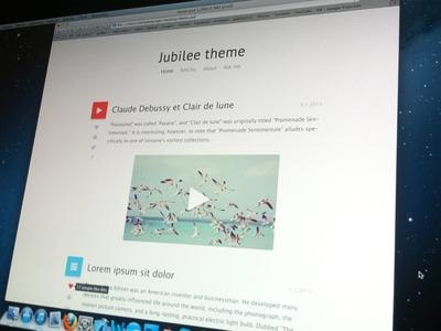 Jubilee theme - Tumblr blog