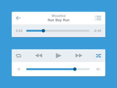 Flat Music Player (iOS)