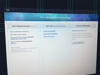 Allocate - Settings Page Updates