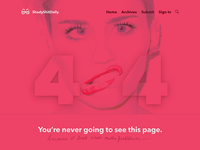 Daily UI: Day 8 - 404 Page