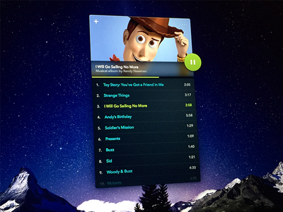 Daily UI: Day 9 - Music Player