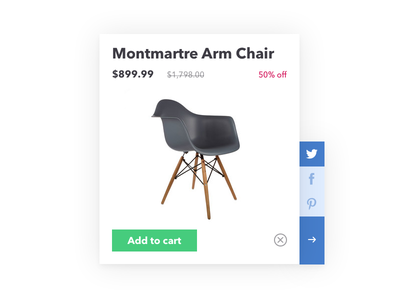 Daily UI: Day 10 - Social Share mid-century modern furniture buttons pinterest facebook twitter social ui share dailyui