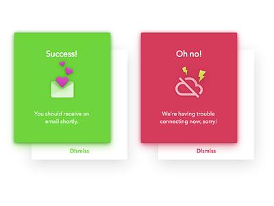 Daily UI: Day 11 - Flash Messages gradient flash message ui error success dailyui