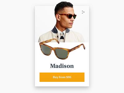 Daily UI: Day 12 - Shop Item sunglasses card shop serif ui warby parker dailyui