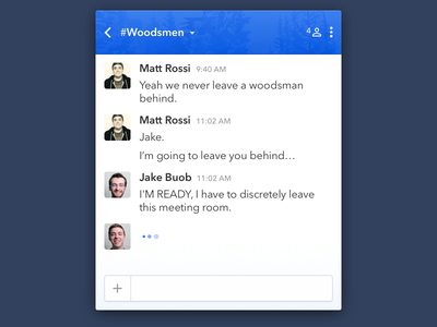 Daily UI: Day 13 - Direct Messages trees woods chat gradient form ui message dailyui