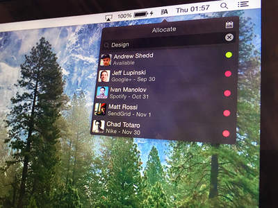 Allocate Utility for Mac ui mac app project management allocate