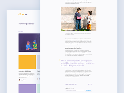 article layouts post article blog web ui purple patterns illustrations gold divorce