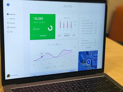 Mojo Time Dashboard Design graphs goals money financial charts ui dashboard