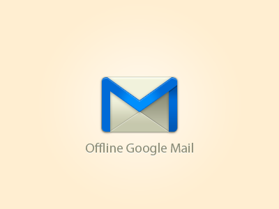 Offline Google Mail Icon - Free PSD google offline google mail mail icon ui free freebie download psd