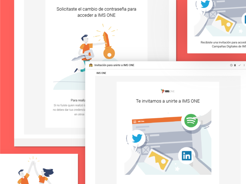 IMS Mailing welcome congrats pass uxwriting uidesign ux digital platforms ims marketing mailing