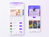App Store concept V2 soft purple apple appstore playstore game shop skeumorphism store app minimal gradient modern concept ui rebound