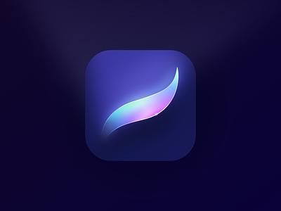 Procreate icon Redesign gradient app paint ios brush prism figma rainbow color crystal skeumorphism 3d icon procreate getcreativewithprocreate