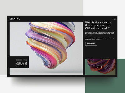 Creative Site Concept : Front page