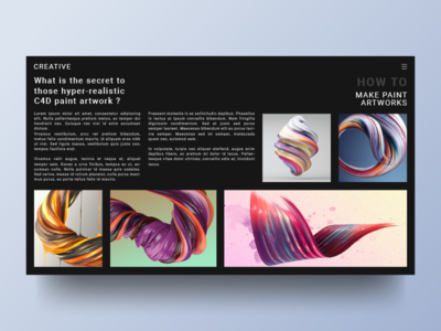 Creative Site Concept : Reading page