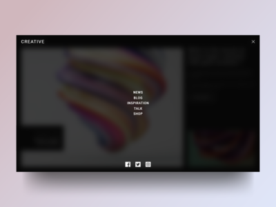Creative Site Concept : Menu
