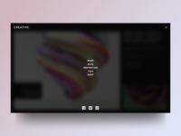 Creative Site Concept : Menu
