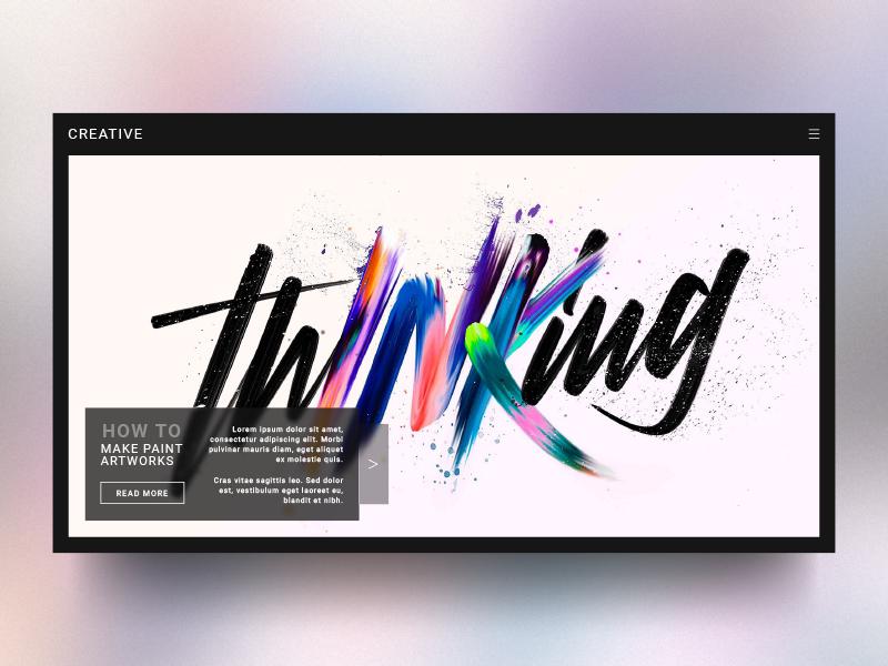 Creative Site Concept : Front page rebound website webdesign ux ui modern minimal dark concept