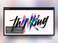 Creative Site Concept : Front page rebound