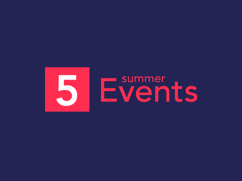 5 Summer Events - Branding branding logo visual erisium typography blue red typo colorfull artwork events summer