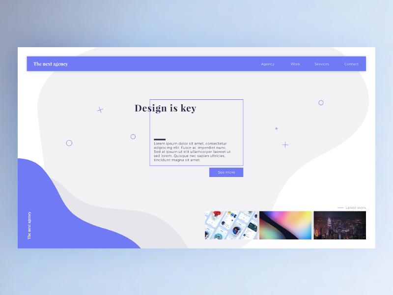 The next agency - Webdesign concept concept modern clean site ux ui webdesign design web agency