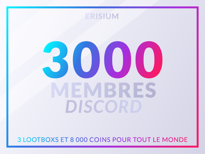 3k Discord members member follower visual members game gradient erisium discord colorful color artwork 3k