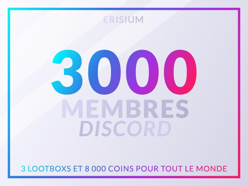 Discord 3000 membres plan de travail 1