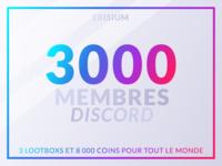 3k Discord members
