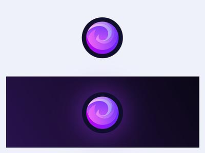 Erisium logo game website concept flat app circle minimal illustration pink erisium minecraft purple icon branding vector logo artwork gradient design modern