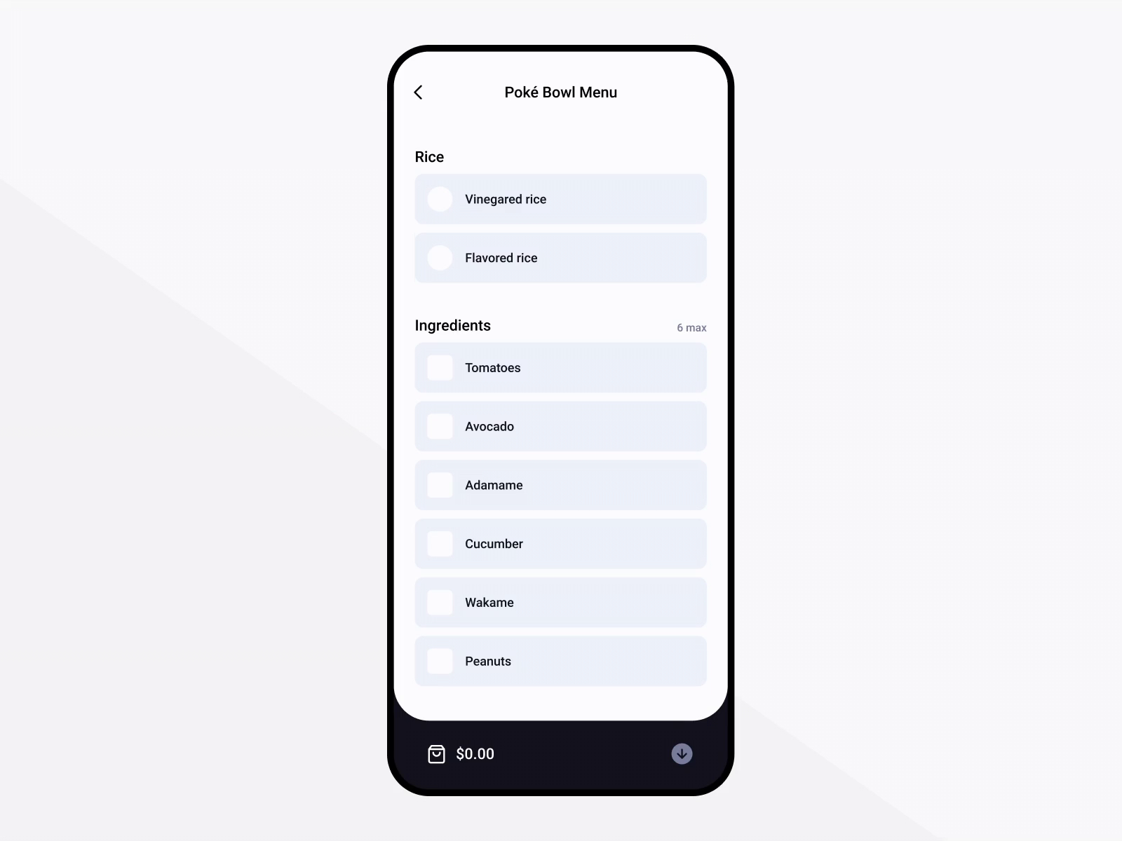 Food delivery app - Figma only
