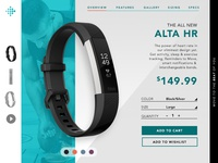 UX Product Card - FitBit Alta HR