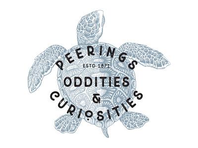 Peerings Oddities & Curiosities logo design illustration vector