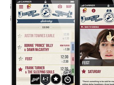 Newport Folk Festival App festival app