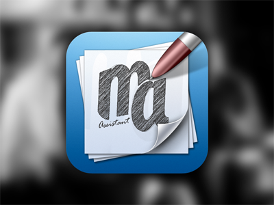 icon ios icon blue papers pen scribbble