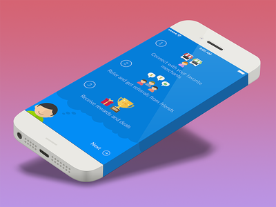 WIP ios illustration iphone blue flat onboarding first run
