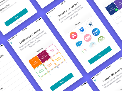 Onboarding for Kore.ai walkthrough intro material design ui android ios onboarding